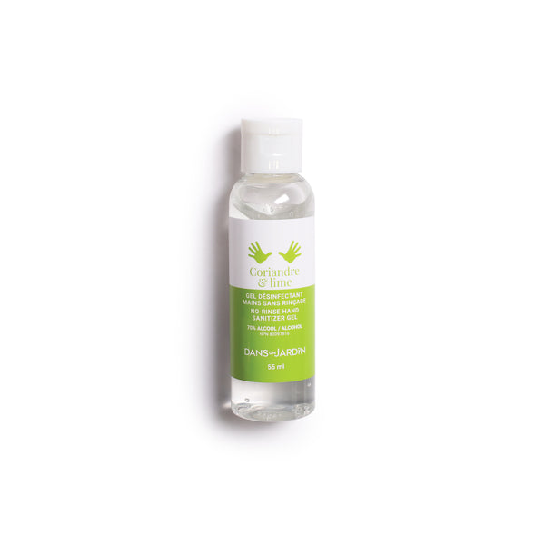 Hand sanitizing gel - Coriandre et lime - 55 ml