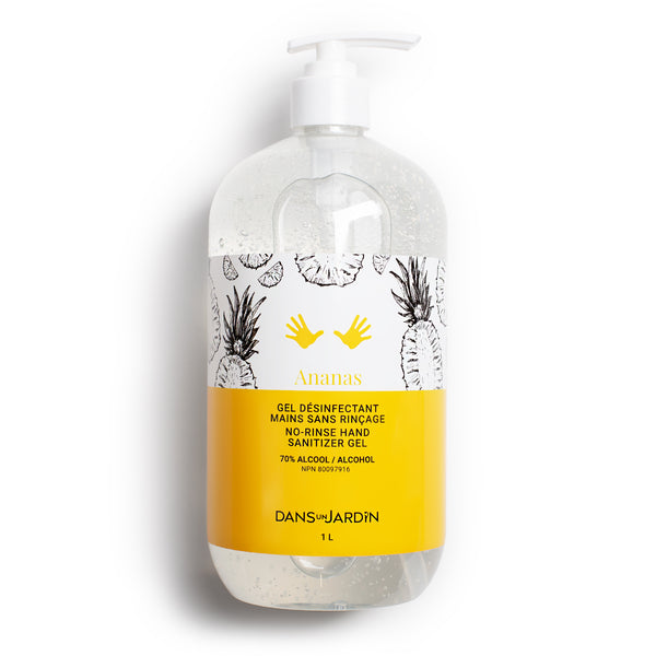 No-Rinse Hand Sanitizing Gel – Pineapple