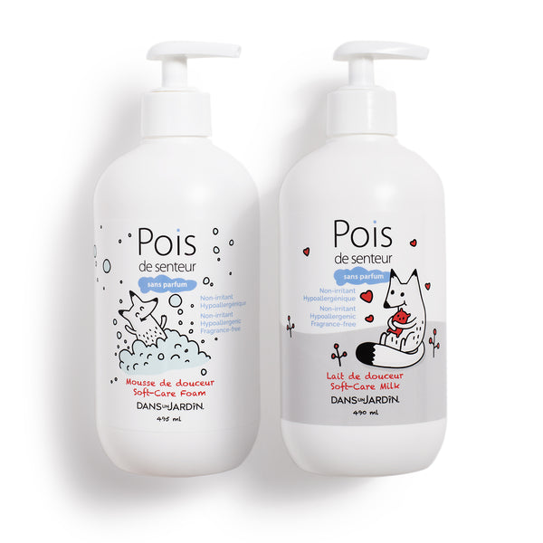 Foam 495 ml and Milk 490 ml  Pois de senteur