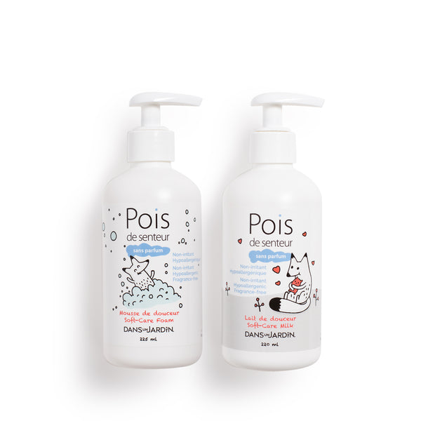 Foam 225 ml and Milk 220 ml - Pois de senteur fragrance free