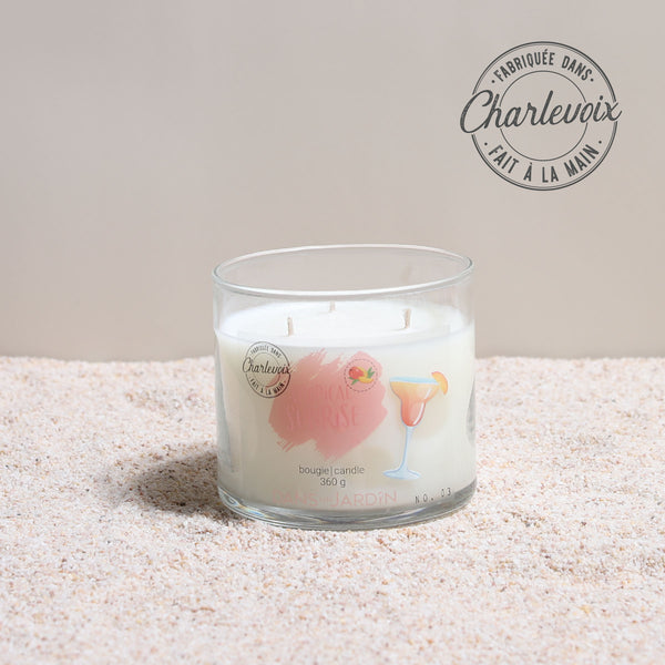 3-Wicks Candle – Tropical sunrise