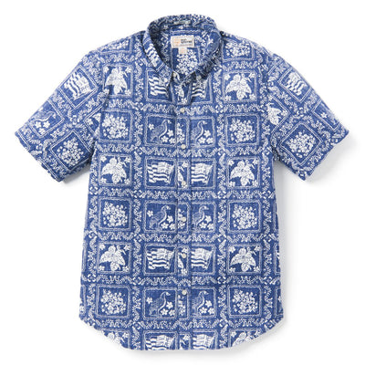 Reyn Spooner LAHAINA SAILOR ARCHIVE CLASSIC TAILORED in NAVY