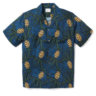 Reyn Spooner Wacky Pineapple Camp Shirt DRESS BLUES
