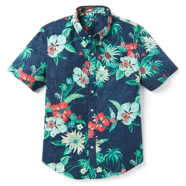 Reyn Spooner HANA IN PARADISE TAILORED in DRESS BLUES