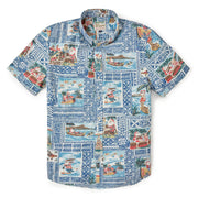 Reyn Spooner HAWAIIAN CHRISTMAS 2020 TAILORED in ESTATE BLUE