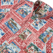 Reyn Spooner HAWAIIAN CHRISTMAS 2020 TAILORED in TIBETAN RED