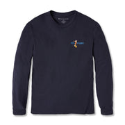 Reyn Spooner SURFING SANTA LONG SLEEVE TEE in NAVY