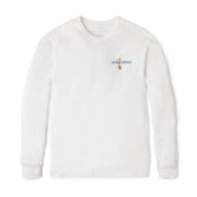 Reyn Spooner SURFING SANTA LONG SLEEVE TEE in WHITE