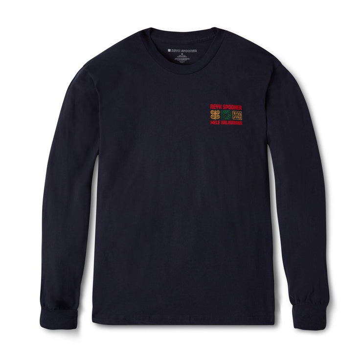 Ukulele Holiday Long Sleeve Tee - Navy