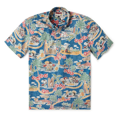 Reyn Spooner PEANUTS IN HAWAII PULLOVER in DARK BLUE