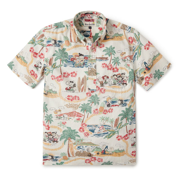 Reyn Spooner PEANUTS IN HAWAII PULLOVER in WHITE
