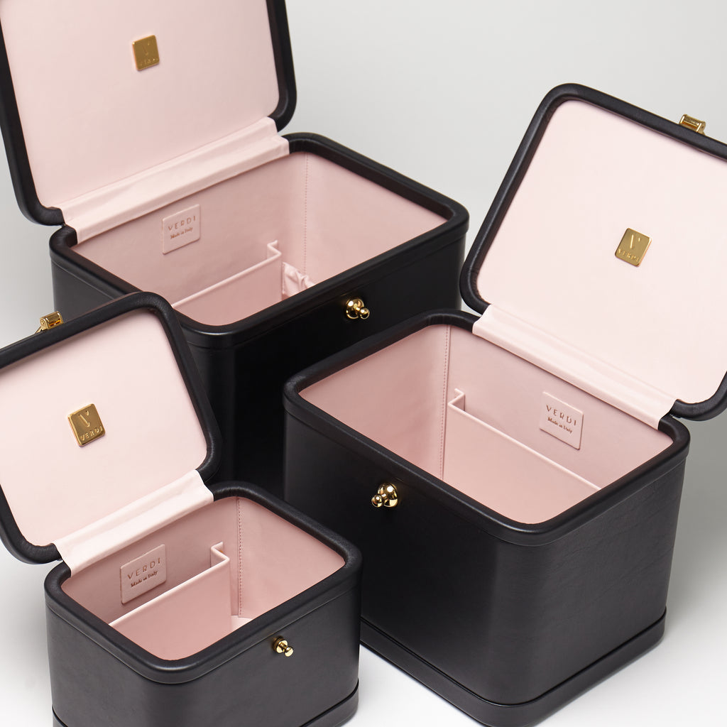 Atelier Verdi Livia vanity cases stacked on each other
