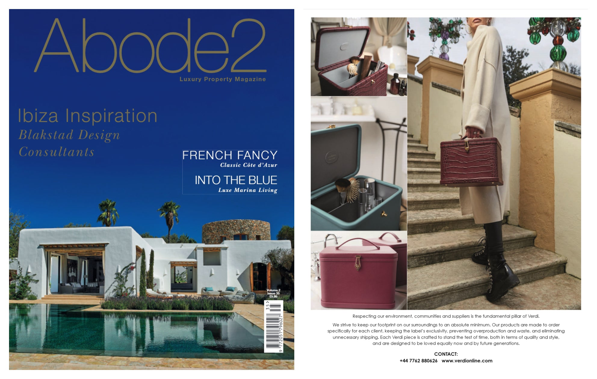 Atelier Verdi Pink Vanity Case, Verdi Blue Vanity Case and Verdi Wine Crocodile Vanity Case in Abode2 Luxury Gift Guide