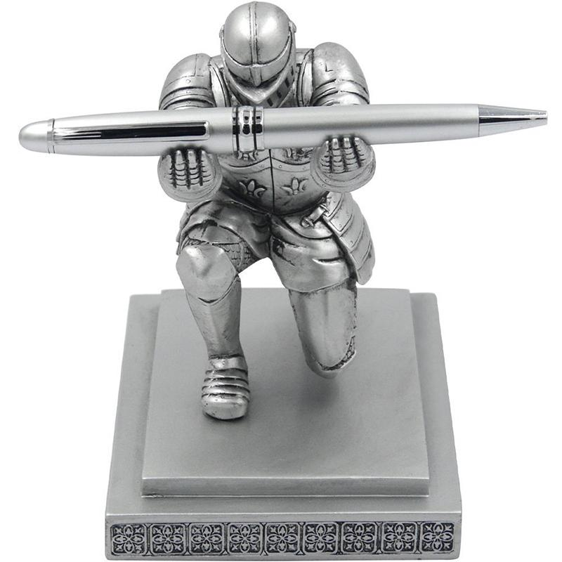 Office Accessories Organizer Pen Stand Pencil Holder Executive Soldier Figurine Knight Pen Holder for Office Desk Organizer