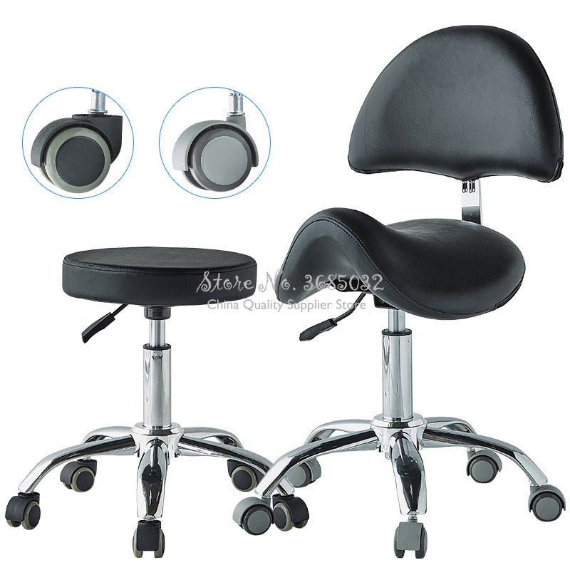 Comfortable Adjustable Saddle Stool Seat Furniture Ergonomic Medical Office Saddle Chair Rolling Swivel Chair for HomeDental