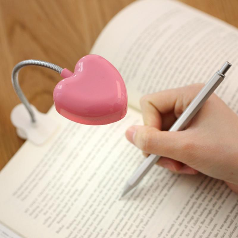 Heart Shape desk lights for girl pink LED Night Light Ultra Bright Mini LED Desk lamps Reading light Book light girl room decor