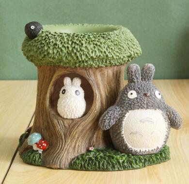 Cute cartoon pupil pen holder Fashion Totoro Style Pen Holder Creative personality children's storage