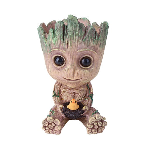 Pen Holder Guardians of The Galaxy Flowerpot Baby Action Figures Cute Model Toy Pot Best Christmas Gifts For office accessories