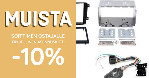 Adapters for the buyer of the player -10%