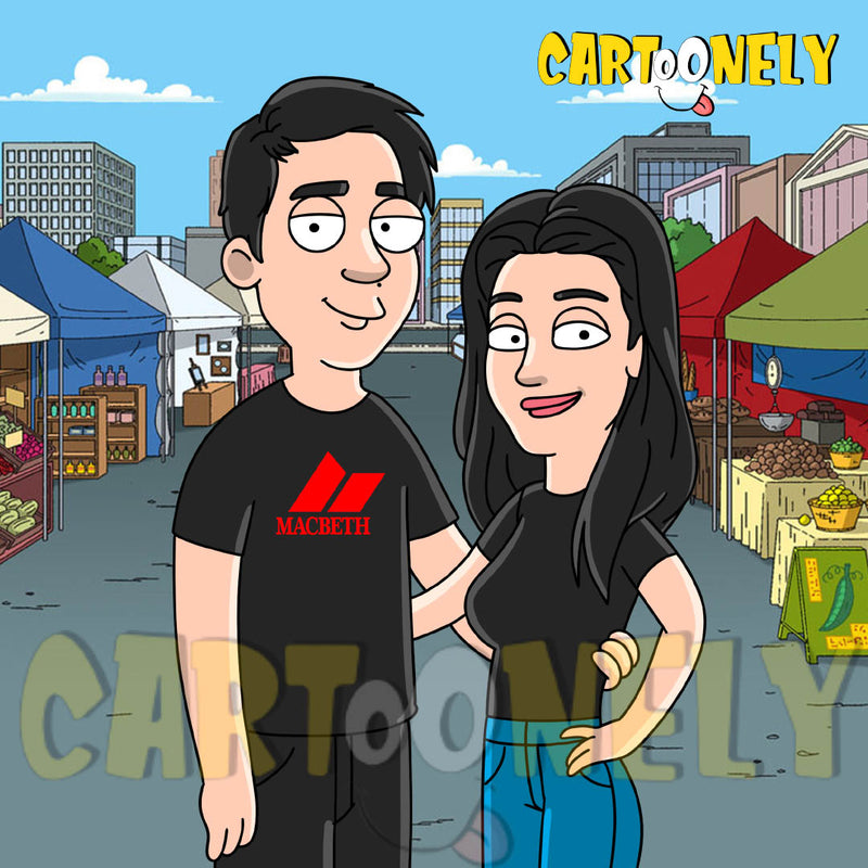 Portrait Family Guy et caricature cleveland show 14