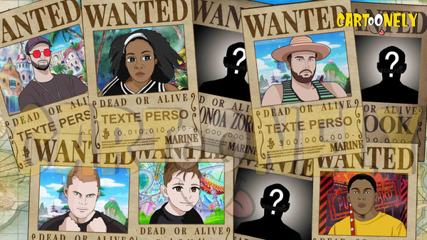 Affiche one piece - Affiche wanted one piece personnalisée