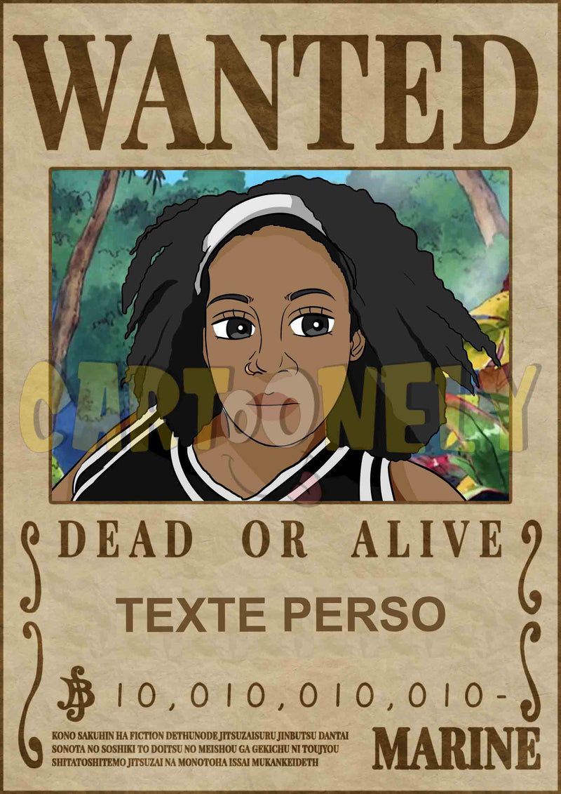 Affiche one piece - Affiche one piece wanted personnalisée