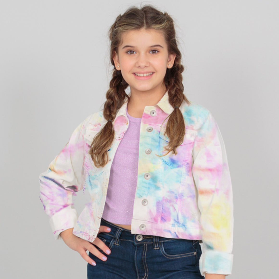 Chaqueta tie-dye Denim multicolor