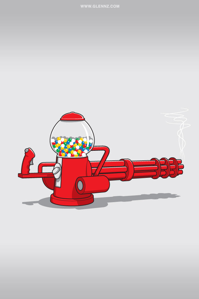 Glennz Gumball Machine Gun phone wallpaper