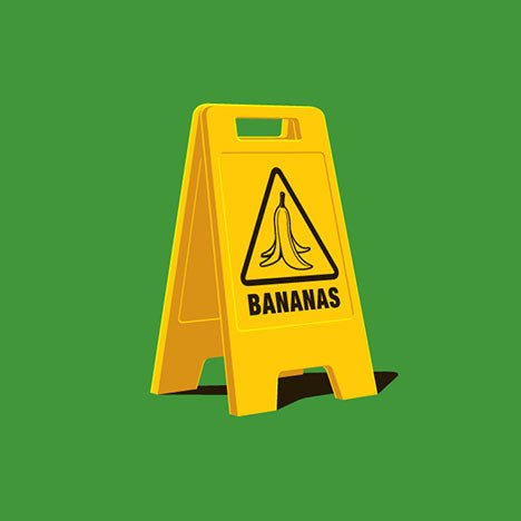 Caution Bananas Glennz Design