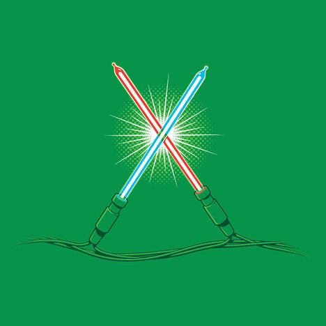Christmas Lightsabers T-Shirt - Glennz Tees