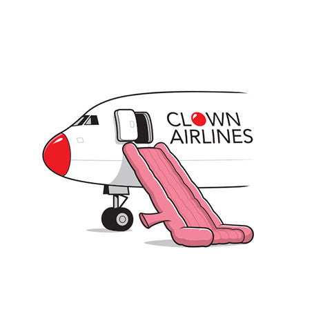 Clown Airlines Women's T-Shirt - Glennz Tees
