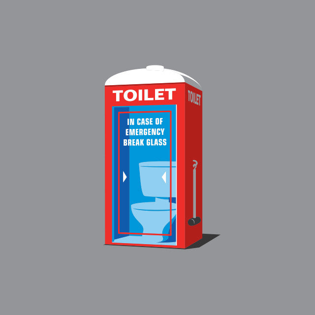 Emergency Toilet T-Shirt - Glennz Tees