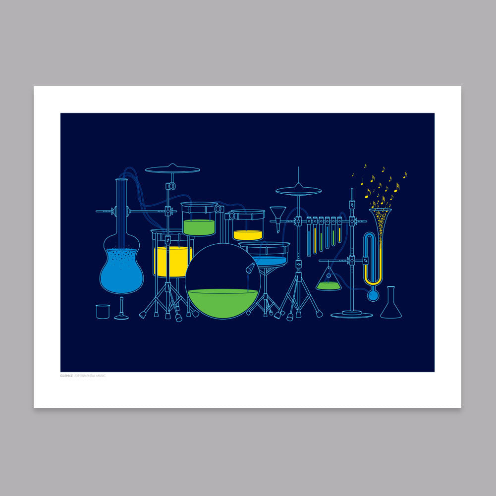 Experimental Music Art Print - Glennz Tees