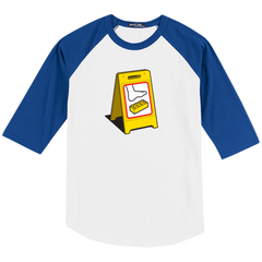 Extreme Caution Raglan Baseball T-Shirt - Glennz Tees