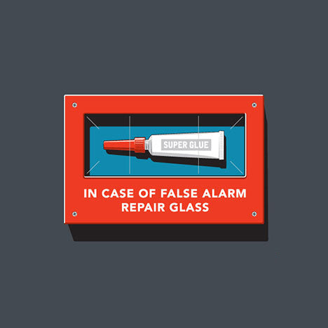 In Case of False Alarm Repair Glass Glennz Design - Glennz Tees