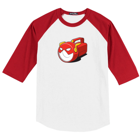 Flashlight Raglan Baseball T-Shirt