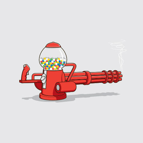 Gumball Machine Gun Women's T-Shirt - Glennz Tees
