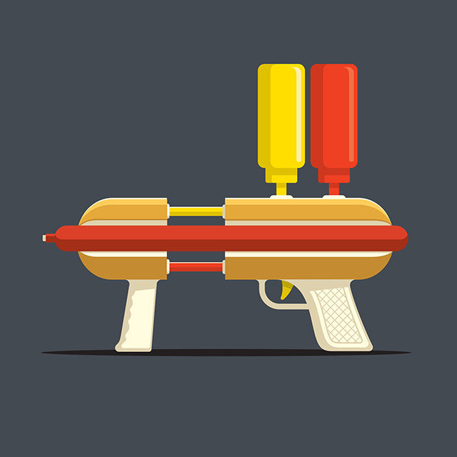 Hot Dog Hitman Glennz Design - Glennz Tees