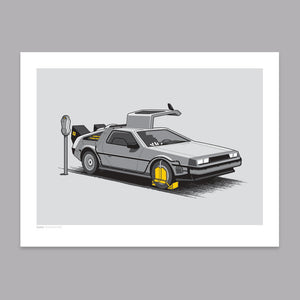 Stuck in the Past Art Print - Glennz Tees