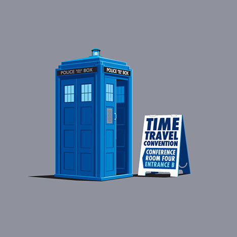 Time Travel Convention Women's T-Shirt - Glennz Tees