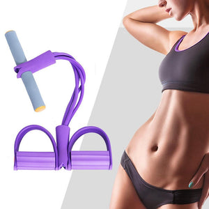 Fitness Equipment Pedal Resistance Band 4 Elastic Pull Rope