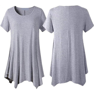 Loose fit comfortable panel T-shirt