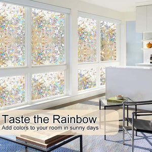 3D Rainbow Window Film,PVC refraction & No glue