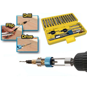 Domom 20 Pcs Drill Driver Screwdriver Set -High Speed Alloyed Steel