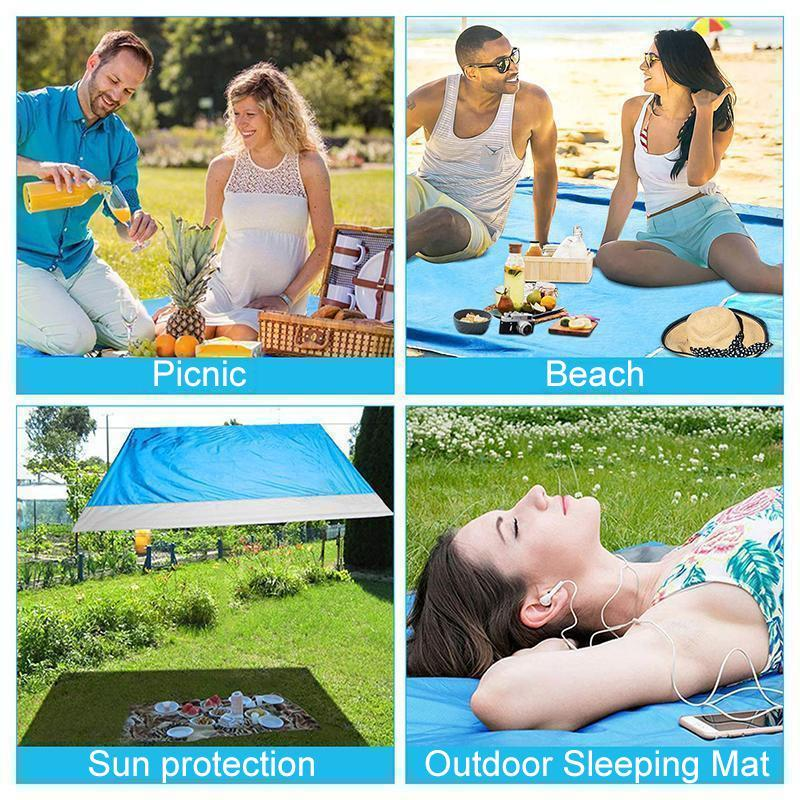 Portable Anti-sand Beach Blanket - for Park, Beach and Picnic