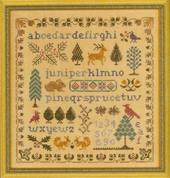 Antique Evergreen Sampler | Elizabeth's Designs