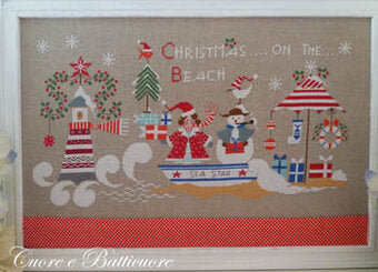 Christmas On the Beach | Cuore e Batticuore Cross Stitch