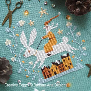 Christmas Hare | Barbara Ana Designs