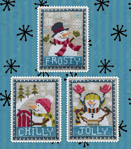 Snowman Trio | Waxing Moon Designs