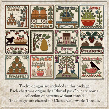 Fruit of the Seasons Collection (12 charts rereleased!) | Little House Needleworks